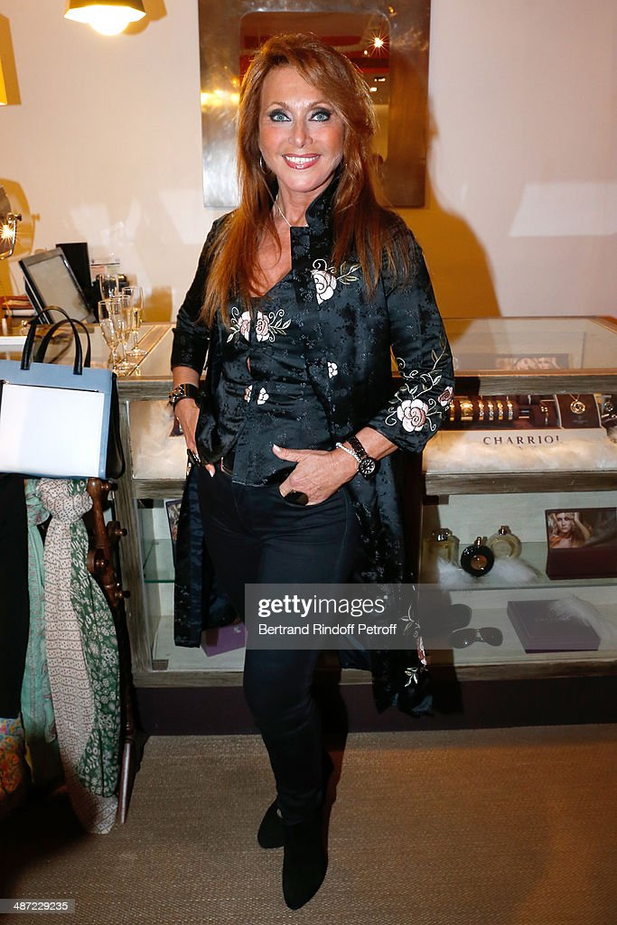 Singer Julie Pietri attends the 'Charriol': Ephemeral Boutique opening hosted by Nathalie Garcon at Nathalie Garcon store, Galerie Vivienne on April 28, 2014 in Paris, France.