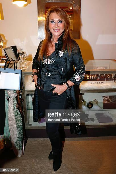 Singer Julie Pietri attends the 'Charriol' Ephemeral Boutique opening hosted by Nathalie Garcon at Nathalie Garcon store Galerie Vivienne on April 28...