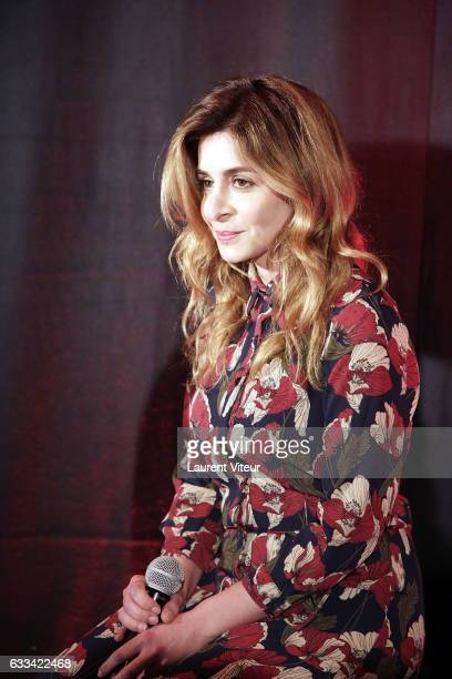 Singer Julie Zenatti performs during 'Le Coeur des Femmes' by Tony Carreira Launch Party at L'Arc on February 1 2017 in Paris France