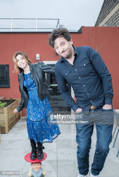 Singer Julie Zenatti with actor Benjamin Bellecour are photographed for Paris Match on March 24 2017 in Paris France
