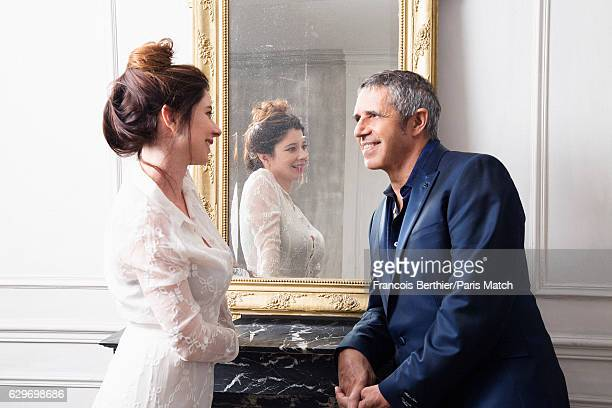 Singer Julien Clerc is photographed with his wife Helene Gremillon for Paris Match on November 24 2016 in Paris France