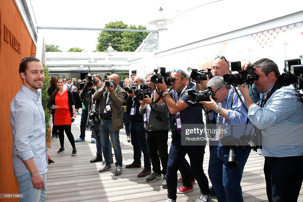 Singer <a gi-track='captionPersonalityLinkClicked' href=/galleries/search?phrase=Julien+Dore&family=editorial&specificpeople=4387742 ng-click='$event.stopPropagation()'>Julien Dore</a> attends the 2015 Roland Garros French Tennis Open - Day Six, on May 29, 2015 in Paris, France.