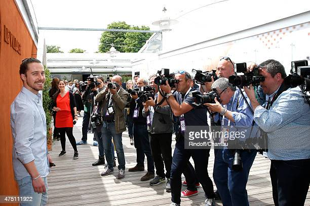 Singer Julien Dore attends the 2015 Roland Garros French Tennis Open Day Six on May 29 2015 in Paris France
