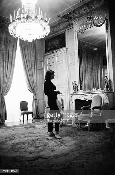 Singer Juliette Gréco in Paris France in December 1964