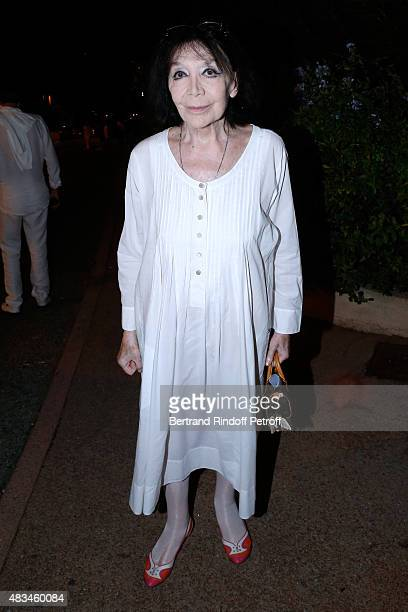 Singer Juliette Greco attends the Alex Lutz Show during the 31th Ramatuelle Festival Day 8 on August 8 2015 in Ramatuelle France