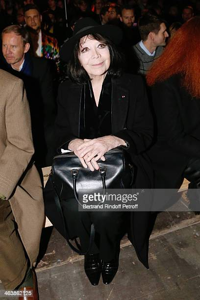 Singer Juliette Greco attends the Saint Laurent Menswear Fall/Winter 20142015 Show as part of Paris Fashion Week on January 19 2014 in Paris France