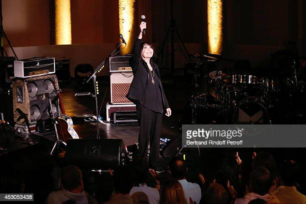 Singer Juliette Greco pays tribute to JeanClaude Brialy and Gerard Philippe during she starts the 30th Ramatuelle Festival on August 1 2014 in...
