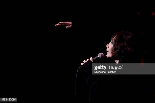Singer Juliette Greco performs on stage at the Theatre du Chatelet in Paris Greco is a French actress and popular chanson singer She became a devotee...