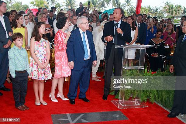 Singer Julio Iglesias is honored with a star on the Puerto Rico Walk Of Fame on September 29 2016 in San Juan Puerto Rico