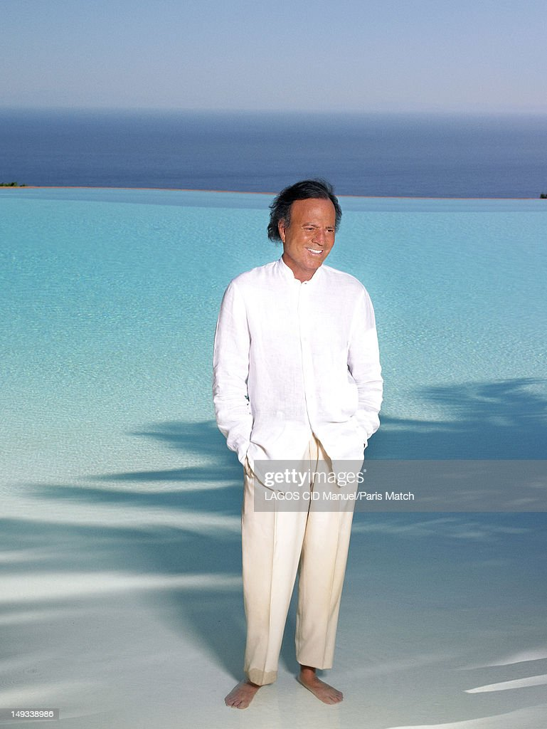 Singer <a gi-track='captionPersonalityLinkClicked' href=/galleries/search?phrase=Julio+Iglesias&family=editorial&specificpeople=218023 ng-click='$event.stopPropagation()'>Julio Iglesias</a> is photographed for Paris Match on June 10, 2012 in Marbella, Spain.