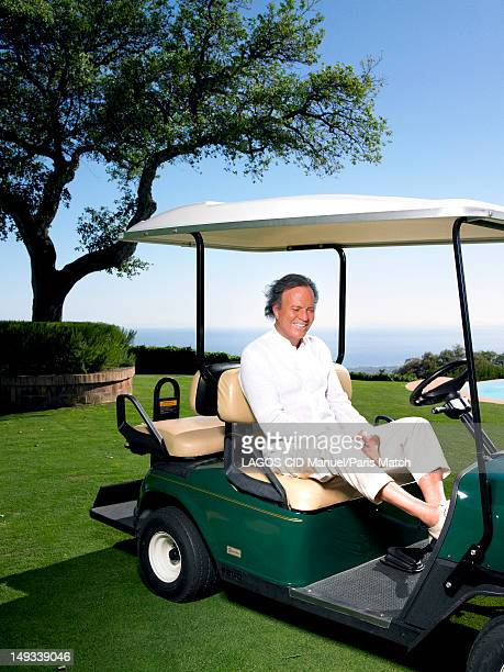 Singer Julio Iglesias is photographed for Paris Match on June 10 2012 in Marbella Spain