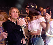 COVERAGE Singer Justin Bieber and model Kendall Jenner in the audience during day 2 of the 2015 Coachella Valley Music Arts Festival at the Empire...