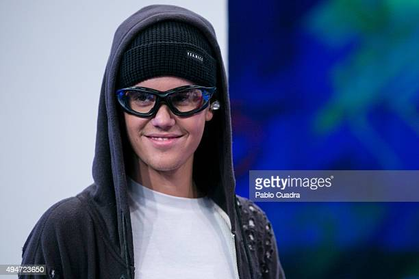 Singer Justin Bieber attends 'El Hormiguero' Tv Show on October 28 2015 in Madrid Spain