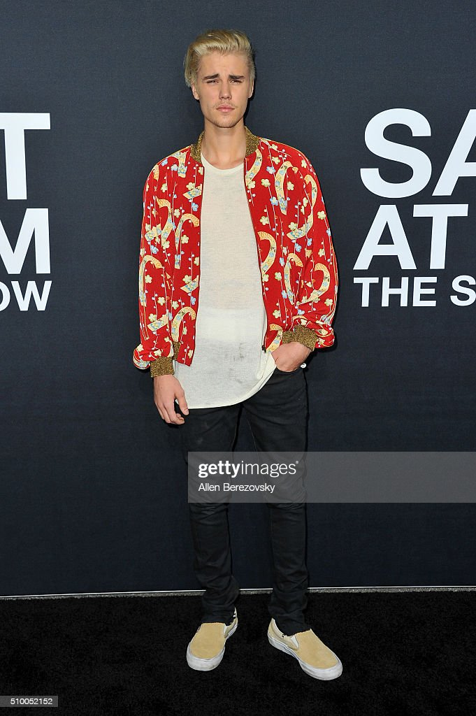 Singer Justin Bieber attends SAINT LAURENT At The Palladium at Hollywood Palladium on February 10, 2016 in Los Angeles, California.
