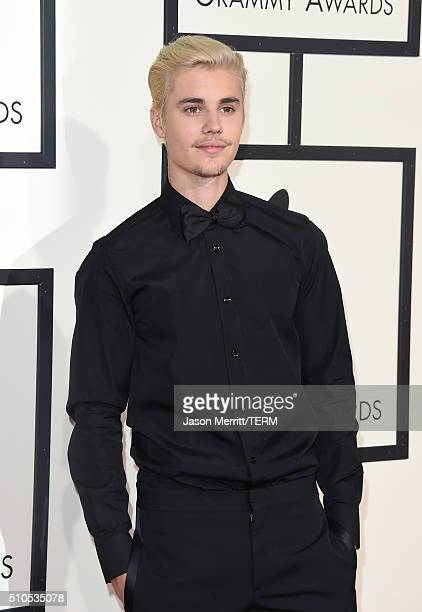 Singer Justin Bieber attends The 58th GRAMMY Awards at Staples Center on February 15 2016 in Los Angeles California