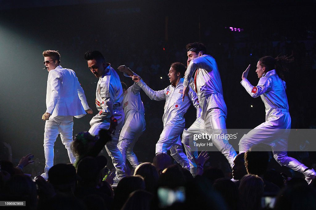 Singer Justin Bieber performs at the Birmingham Jefferson Convention Complex on January 16, 2013 in Birmingham, Alabama.
