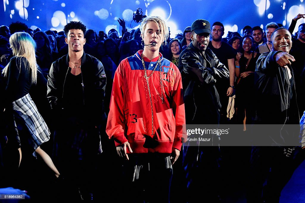 Singer Justin Bieber performs onstage at the iHeartRadio Music Awards which broadcasted live on TBS, TNT, AND TRUTV from The Forum on April 3, 2016 in Inglewood, California.