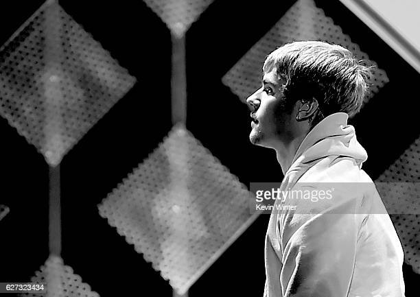 Singer Justin Bieber performs onstage during 1027 KIIS FM's Jingle Ball 2016 presented by Capital One at Staples Center on December 2 2016 in Los...