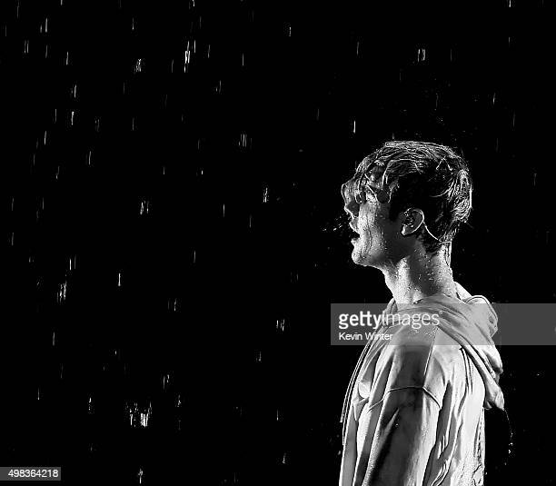 Singer Justin Bieber performs onstage during the 2015 American Music Awards at Microsoft Theater on November 22 2015 in Los Angeles California