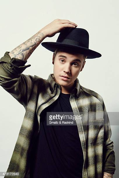 Singer Justin Bieber poses for a portrait at the 1027 KIIS FM's Wango Tango portrait studio for People Magazine on May 9 2015 in Carson California