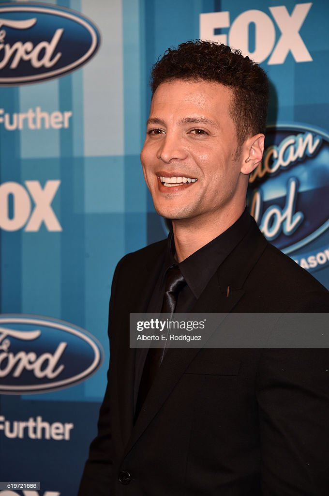 Singer Justin Guarini attends FOX's 'American Idol' Finale For The Farewell Season at Dolby Theatre on April 7 2016 in Hollywood California
