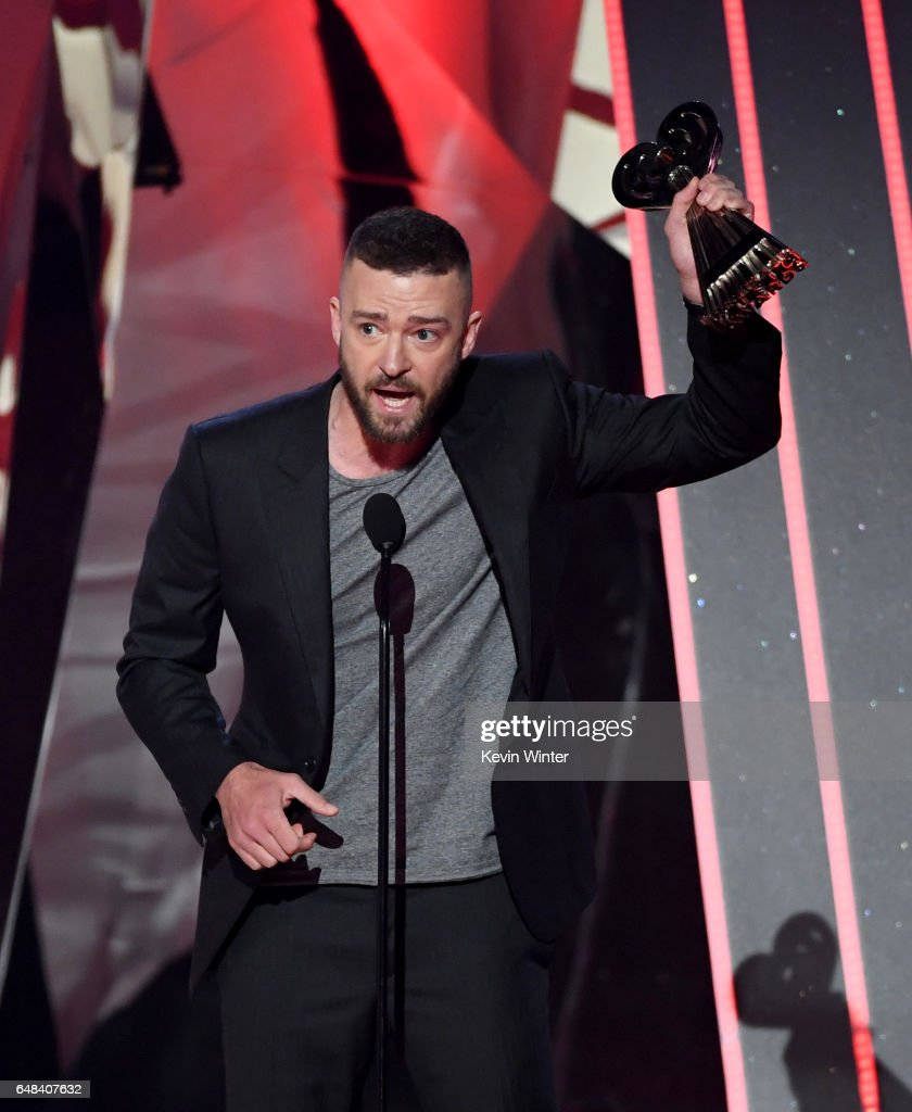 Singer Justin Timberlake accepts Song of the Year for 'Can't Stop the Feeling' onstage at the 2017 iHeartRadio Music Awards which broadcast live on Turner's TBS, TNT, and truTV at The Forum on March 5, 2017 in Inglewood, California.