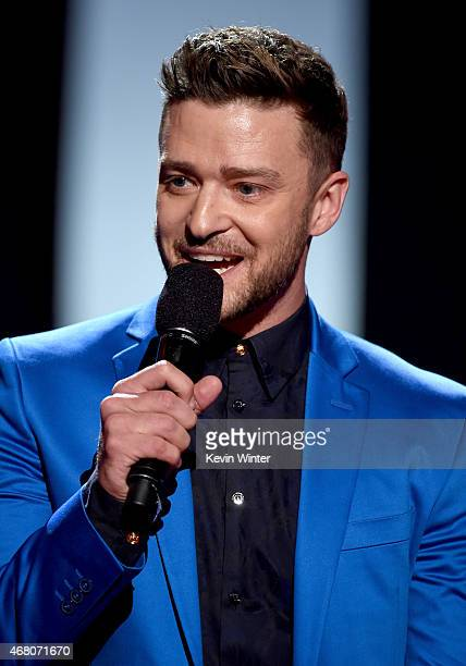 Singer Justin Timberlake accepts the iHeartRadio Innovator Award onstage during the 2015 iHeartRadio Music Awards which broadcasted live on NBC from...