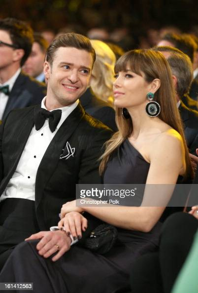 Singer Justin Timberlake and actress Jessica Biel attend the 55th Annual GRAMMY Awards at STAPLES Center on February 10 2013 in Los Angeles California