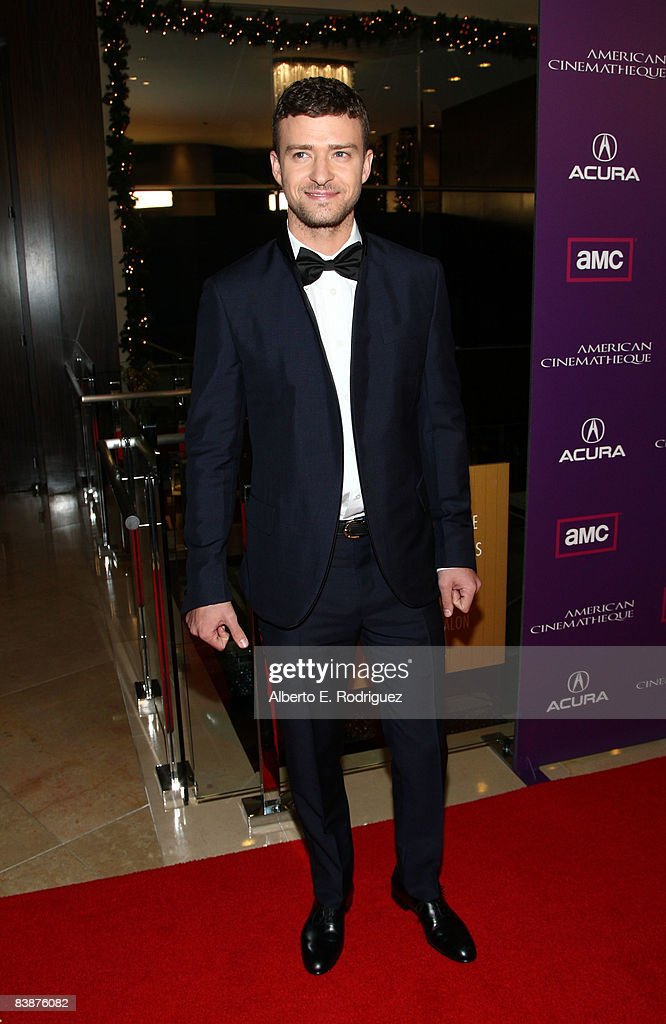 Singer <a gi-track='captionPersonalityLinkClicked' href=/galleries/search?phrase=Justin+Timberlake&family=editorial&specificpeople=157482 ng-click='$event.stopPropagation()'>Justin Timberlake</a> arrives at the 23rd annual American Cinematheque show honoring Samuel L. Jackson held at Beverly Hilton Hotel on December 1, 2008 in Beverly Hills, California.