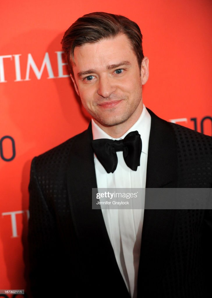 Singer <a gi-track='captionPersonalityLinkClicked' href=/galleries/search?phrase=Justin+Timberlake&family=editorial&specificpeople=157482 ng-click='$event.stopPropagation()'>Justin Timberlake</a> attends the 2013 Time 100 Gala at Frederick P. Rose Hall, Jazz at Lincoln Center on April 23, 2013 in New York City.