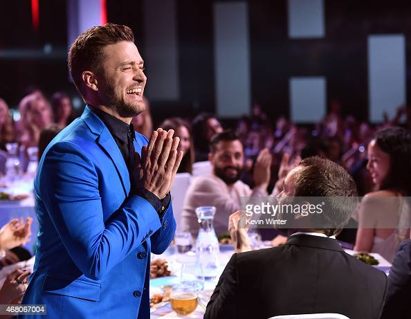 Singer Justin Timberlake attends the 2015 iHeartRadio Music Awards which broadcasted live on NBC from The Shrine Auditorium on March 29 2015 in Los...