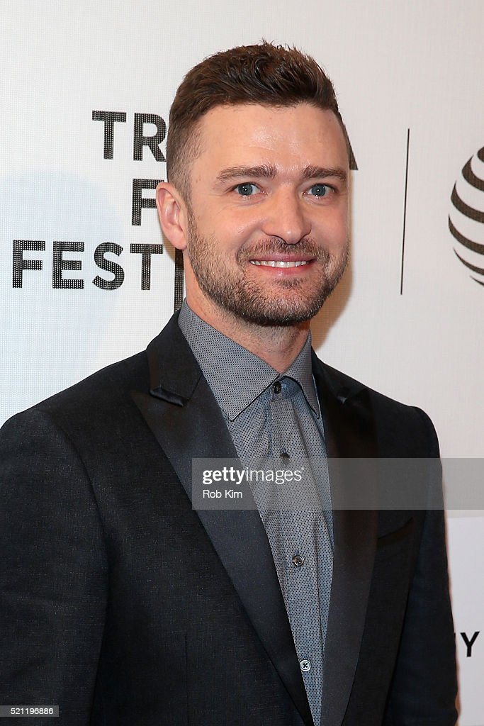 Singer <a gi-track='captionPersonalityLinkClicked' href=/galleries/search?phrase=Justin+Timberlake&family=editorial&specificpeople=157482 ng-click='$event.stopPropagation()'>Justin Timberlake</a> attends 'The Devil And The Deep Blue Sea' Premiere during 2016 Tribeca Film Festival at BMCC John Zuccotti Theater on April 14, 2016 in New York City.