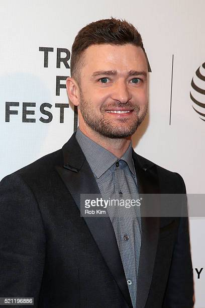 Singer Justin Timberlake attends 'The Devil And The Deep Blue Sea' Premiere during 2016 Tribeca Film Festival at BMCC John Zuccotti Theater on April...