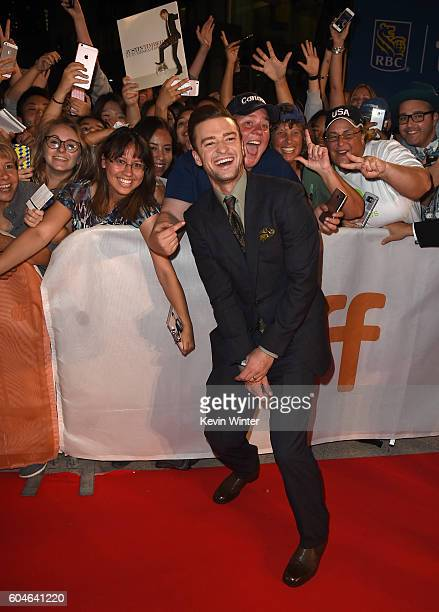Singer Justin Timberlake attends the 'Justin Timberlake The Tennessee Kids' premiere during the 2016 Toronto International Film Festival at Roy...