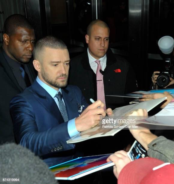 Singer Justin Timberlake is seen on November 14 2017 in New York City