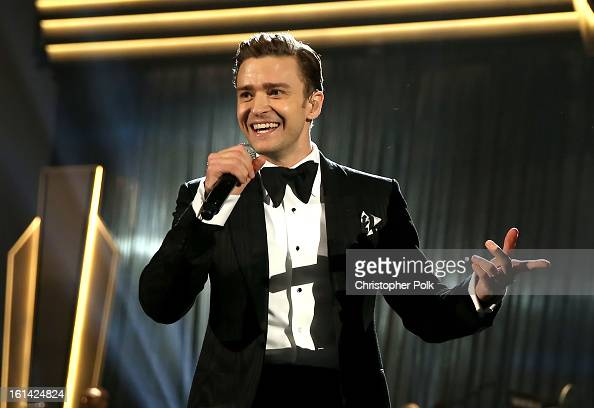 Singer Justin Timberlake onstage during the 55th Annual GRAMMY Awards at STAPLES Center on February 10 2013 in Los Angeles California