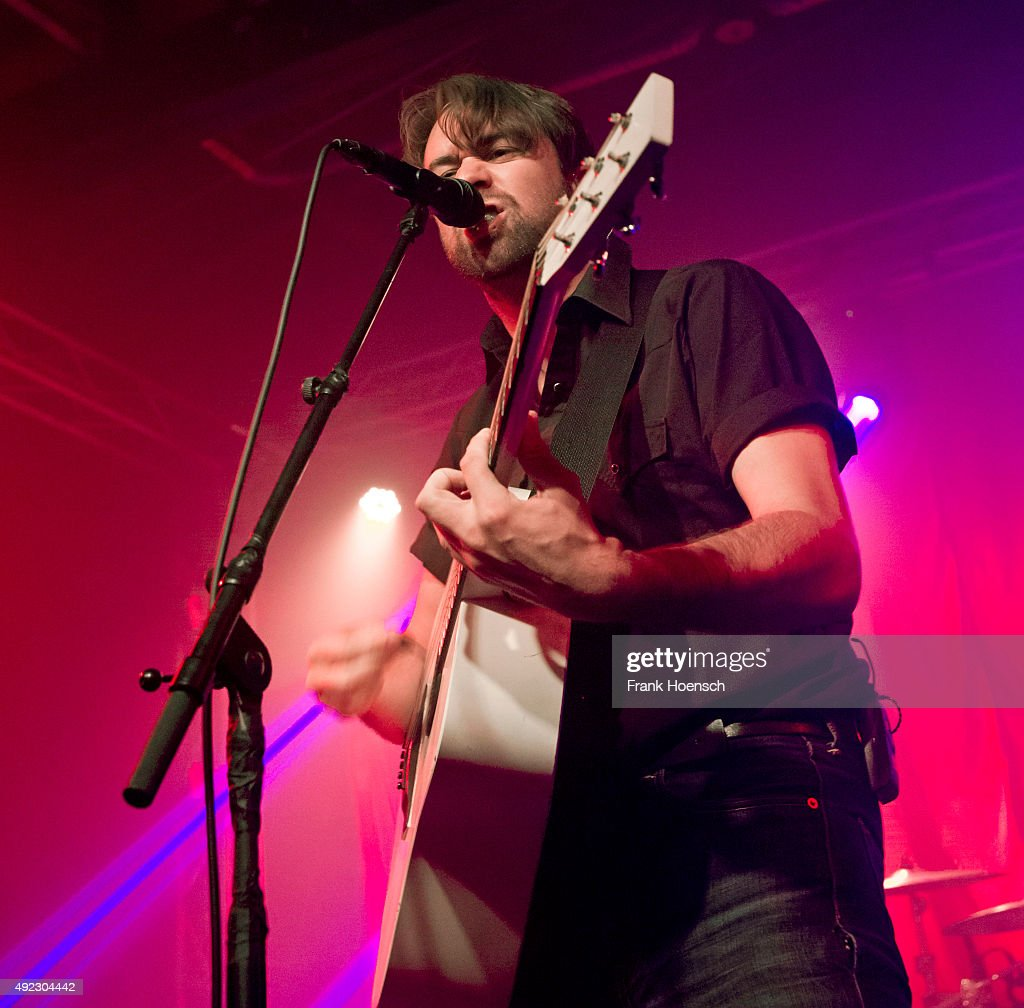 Singer Justin Young of the British band The Vaccines performs live during a concert at the Postbahnhof on October11 2015 in Berlin Germany