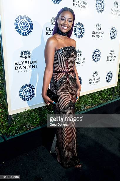 Singer Justine Skye arrives for The Art of Elysium Presents Stevie Wonder's HEAVEN Celebrating the 10th Anniversary at Red Studios on January 7 2017...