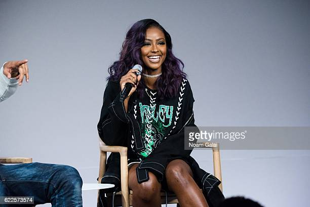 Singer Justine Skye attends 'Meet The Musician' at Apple Store Soho on November 11 2016 in New York City