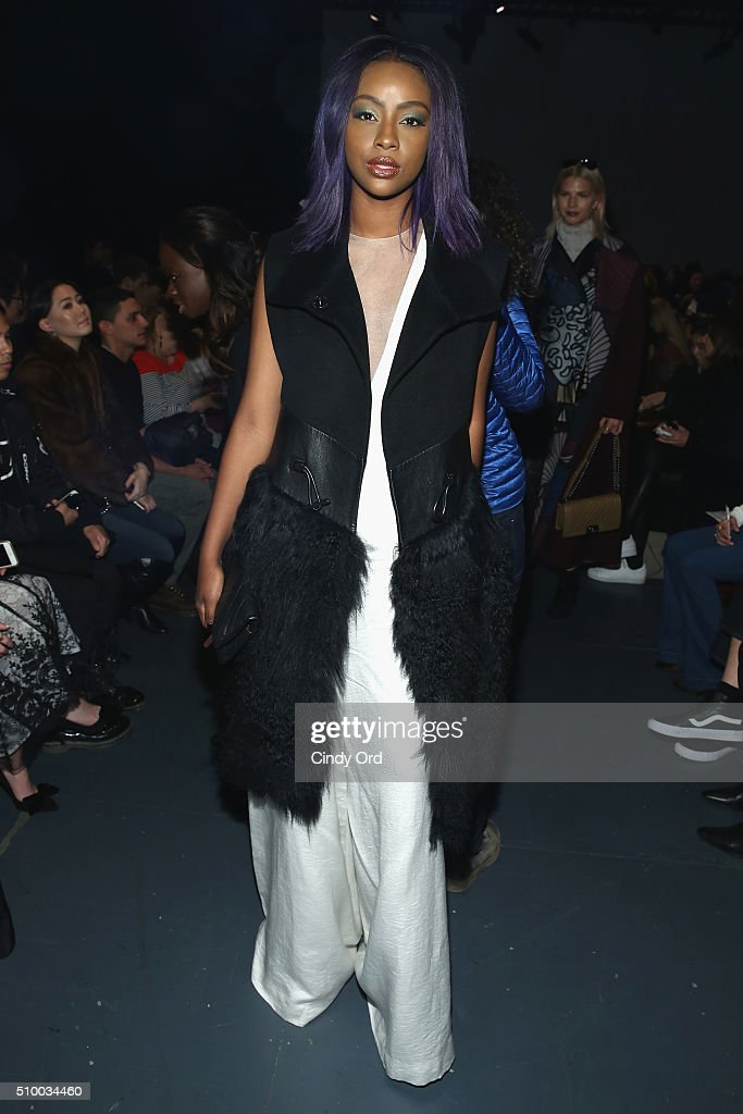 Singer <a gi-track='captionPersonalityLinkClicked' href=/galleries/search?phrase=Justine+Skye&family=editorial&specificpeople=11149408 ng-click='$event.stopPropagation()'>Justine Skye</a> attends the LIE SANGBONG Fall-Winter 2016 Collection Show at Pier 59 on February 13, 2016 in New York, New York.