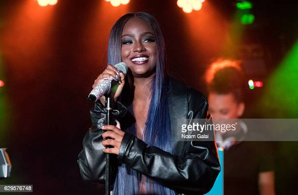 Singer Justine Skye performs in concert at Webster Hall on December 13 2016 in New York City