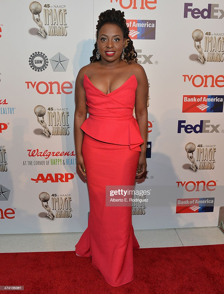 Singer <a gi-track='captionPersonalityLinkClicked' href=/galleries/search?phrase=K.+Michelle&family=editorial&specificpeople=7033127 ng-click='$event.stopPropagation()'>K. Michelle</a> attends the 45th NAACP Awards Non-Televised Awards Ceremony at the Pasadena Civic Auditorium on February 21, 2014 in Pasadena, California.