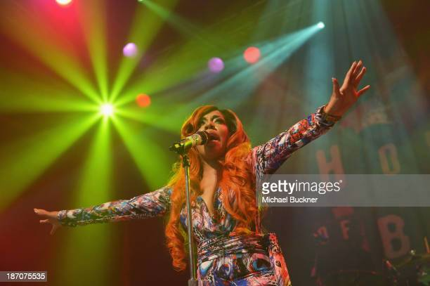 Singer K Michelle performs at House of Blues Sunset Strip during The Rebellious Soul Tour on November 5 2013 in West Hollywood California