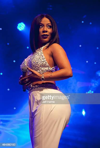Singer K Michelle performs at The Fillmore Charlotte on February 26 2015 in Charlotte North Carolina