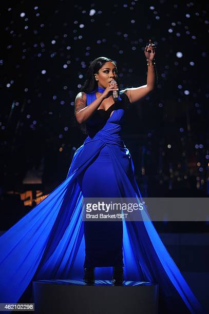 Singer K Michelle performs onstage during 'The BET Honors' 2015 at Warner Theatre on January 24 2015 in Washington DC