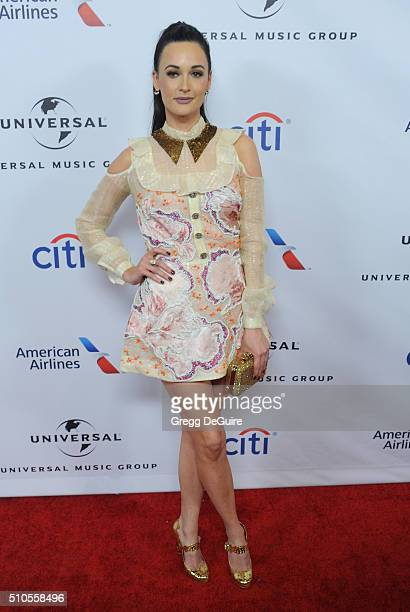 Singer Kacey Musgraves arrives at Universal Music Group's 2016 GRAMMY After Party at The Theatre At The Ace Hotel on February 15 2016 in Los Angeles...