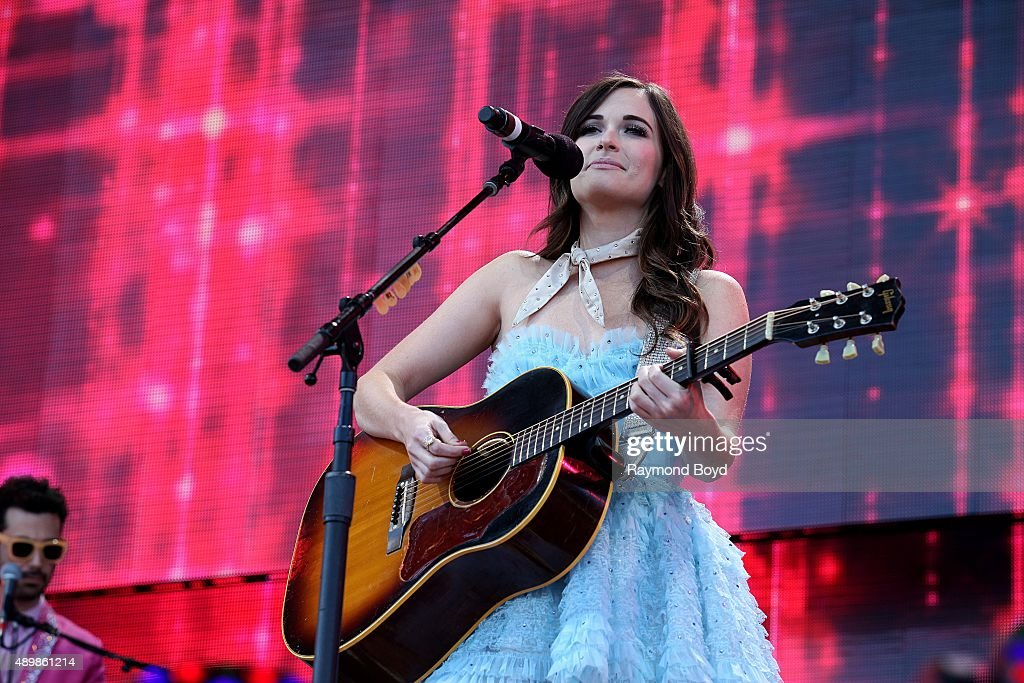 Singer Kacey Musgraves performs at FirstMerit Bank Pavilion at Northerly Island during 'Farm Aid 30' on September 19 2015 in Chicago Illinois