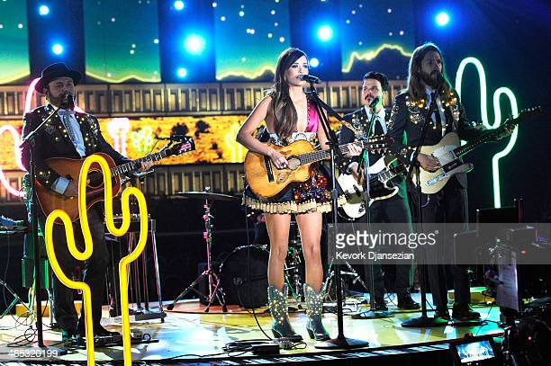 Singer Kacey Musgraves performs onstage during the 56th GRAMMY Awards at Staples Center on January 26 2014 in Los Angeles California