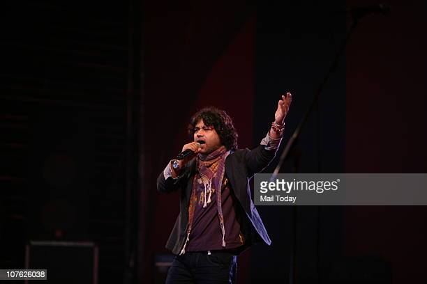 Singer Kailash Kher performing on the third and final night of the South Asian Bands Festival at Old Fort on Tuesday