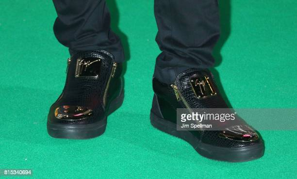 Singer Kailash Kher shoe detail attends the 2017 International Indian Film Academy Festival at MetLife Stadium on July 14 2017 in East Rutherford New...